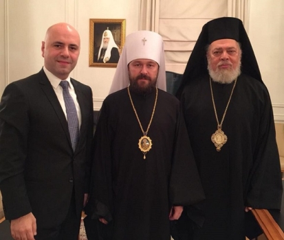 Hasbani after Meeting Archbishop Hilarion in Russia: The Church's Support to the Social Stability and Impartiality are Essential for Lebanon